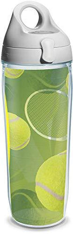 Tervis Tennis Balls Wrap and Water Bottle with Grey Lid, 24-Ounce, Beverage - 1164179