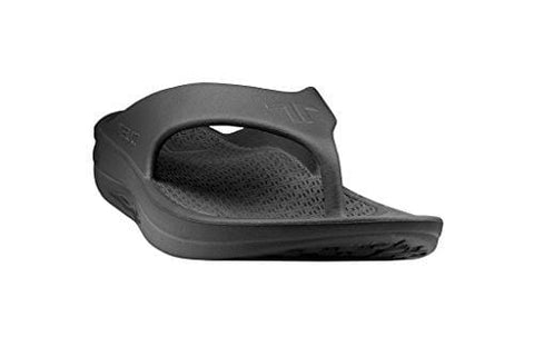 Telic Men's Fashion Flip Flop Sandal (Made in The USA) (10 D(M) US, Midnight Black)
