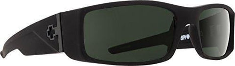 Spy Optic Hielo 670375973864 Polarized Flat Sunglasses, 56 mm (Soft Matte Black/Happy Gray/Green Polar)