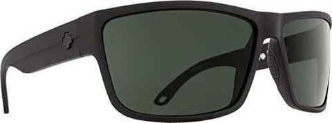 Spy Optic Rocky Rectangular, Matte Black/Happy Gray/Green Polar, 64 mm