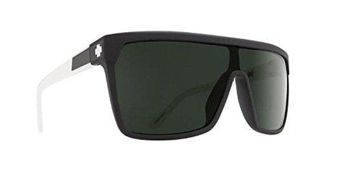 Spy Flynn Sunglasses Matte Black White with Happy Gray Green Lens Sticker