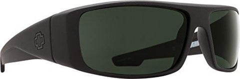 Spy Optic Logan 670939973863 Wrap Sunglasses, 60 mm (Soft Matte Black/Happy Gray/Green)