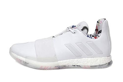 adidas Men's Harden Vol. 3 Basketball Shoes (10.5, White)