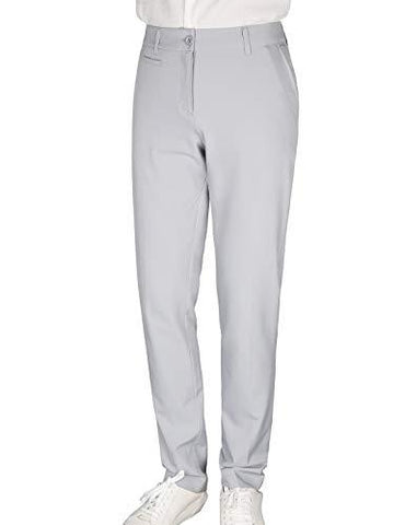 Bakery Women's Golf Pants Stretch Straight Lightweight Breathable Chino Pants Size 14 Grey
