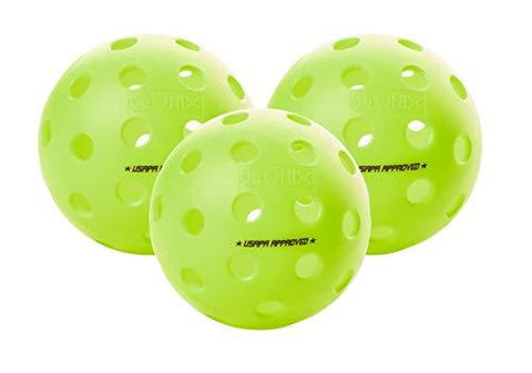 Onix Fuse G2 Pickleball Ball | Outdoor | Neon | 3 Pack