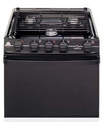 "Atwood Mobile Products 52458 Wedgewood 52458 Black 17"" Ups Oven Range 3 Burner"