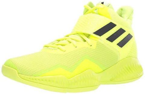 adidas Men's Explosive Bounce 2018 Basketball Shoe, Solar Yellow/White/Black, 10.5 M US
