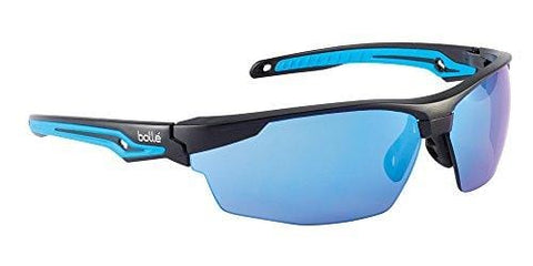 Bolle Safety Tryon Tyron Glasses with Blue Lens, Black/Blue, Blue
