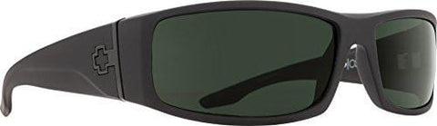 Spy Optic Men Cooper Rectangular, Soft Matte Black/Happy Gray/Green Polar, 56 mm