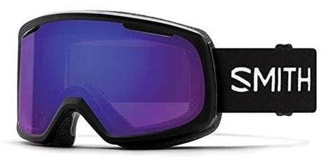 Smith Optics Riot Women's Snow Goggles - Black/Chromapop Everyday Violet Mirror/One Size