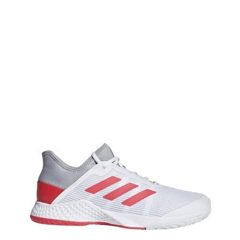 adidas Men's Adizero Club, Light Granite/Shock red/White 10 M US