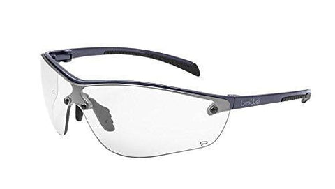 Bolle Safety Silium+ Safety Glasses, Dark Gunmetal Frame, Clear Lenses