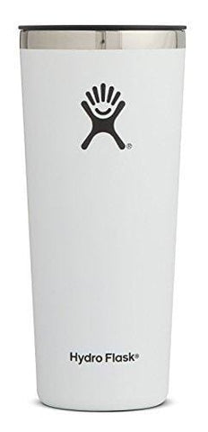 Hydro Flask 22 oz Tumbler Cup | Stainless Steel & Vacuum Insulated | Press-In Lid | White