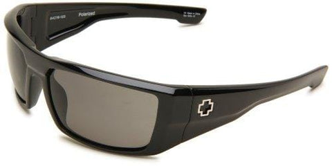 Spy Optic Unisex Dirk Polarized Shiny Black/Grey Polarized Lens