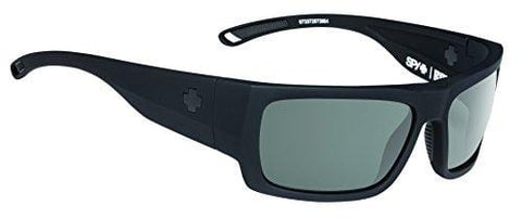 Spy Optic Rover Square Sunglasses, Soft Matte Black/Happy Gray/Green Polar/Dark Blue Spectra, 1.5 mm