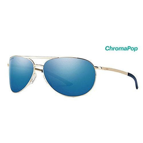 Smith Serpico Slim 2 ChromaPop Polarized Sunglasses, Gold, Blue Mirror Lens