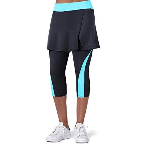 ANIVIVO Women Tennis Legging, Skirted Capri Leggings Tennis Pants for Women& Sports Capri Skirted Leggings Sports Skirted Leggings(Blue,XL) [product _type] ANIVIVO - Ultra Pickleball - The Pickleball Paddle MegaStore
