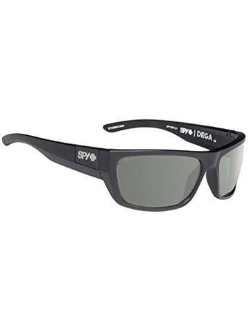Spy Optic Dega Shield Sunglasses, Matte Black Ansi/Happy Gray/Green, 1.5 mm