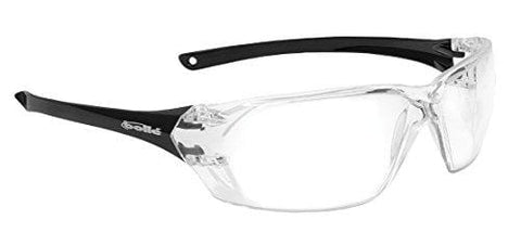 Bollé Safety 253-PR-40057 Prism Safety Eyewear with Shiny Black Rimless Frame and Clear Anti-Scratch/Anti-Fog Lens