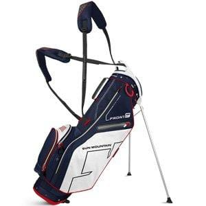 Sun Mountain Front 9 Stand Golf Bag, Navy/White/Red