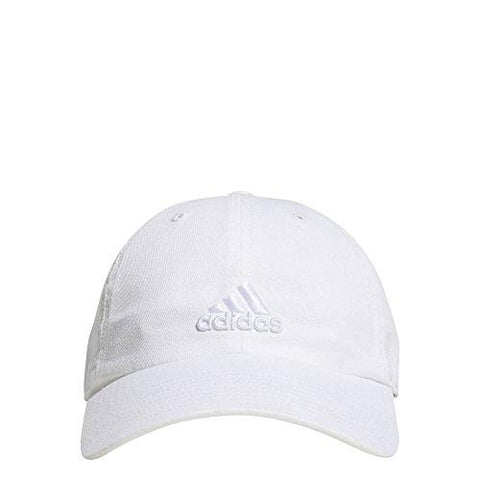 adidas Women's Saturday Relaxed Adjustable Cap, White/White, One Size [product _type] adidas - Ultra Pickleball - The Pickleball Paddle MegaStore