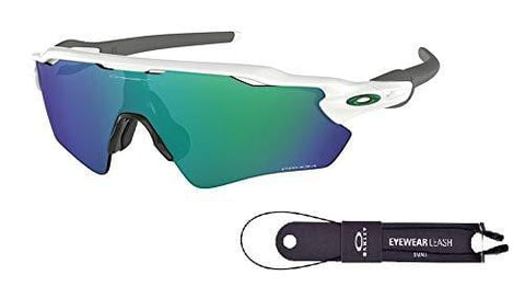 Oakley Radar EV Path OO9208 920871 38M Polished White/Prizm Jade Sunglasses For Men+BUNDLE with Oakley Accessory Leash Kit