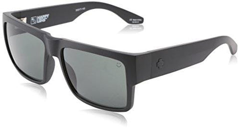 Spy Optic Men Cyrus Rectangular, Matte Black/Happy Gray/Green, 58 mm