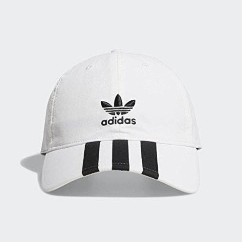 adidas Men's Originals Relaxed Applique Strapback Cap, white/black, One Size [product _type] adidas Originals - Ultra Pickleball - The Pickleball Paddle MegaStore