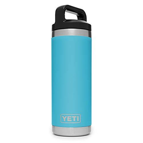 YETI Rambler 18 oz Stainless Steel Vacuum Insulated Bottle with Cap, Reef Blue