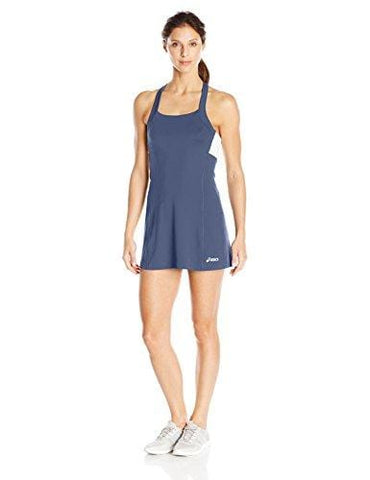 ASICS Women's Rally Dress Shorts Sleeve, Navy/White, Medium