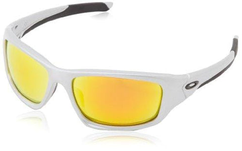 Oakley Valve Polarized Iridium Rectangular Sunglasses,Silver,60 mm