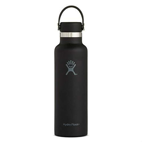 Hydro Flask Skyline Series 21 oz Water Bottle | Stainless Steel & Vacuum Insulated | Standard Mouth with Leak Proof Flex Cap | Black