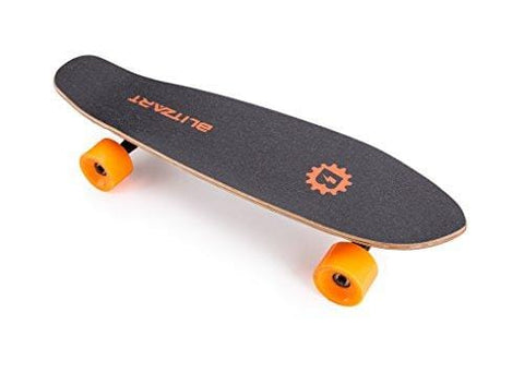 "Blitzart Mini Flash 28"" Electric Skateboard Electronic Hub-Motor 2.8"" Wheel E-Skateboard (ORANGE)"