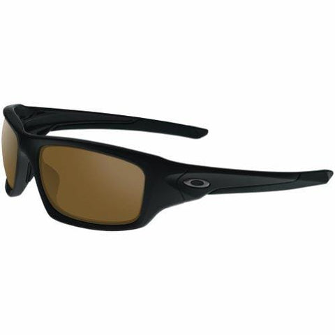 OAKLEY Valve OO9236-03 Rectangular Sunglasses,Matte Black/Orange 60mm
