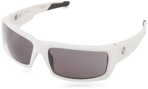 Spy Optic General Matte White-Grey Wrap, 66 mm