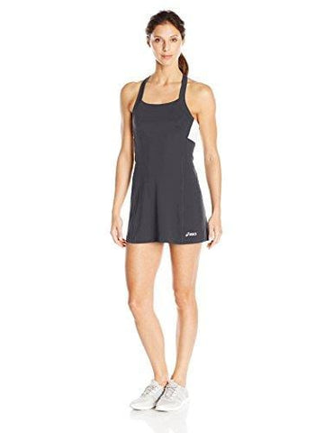 ASICS Women's Rally Dress Shorts Sleeve, Black/White, Medium [product _type] ASICS - Ultra Pickleball - The Pickleball Paddle MegaStore