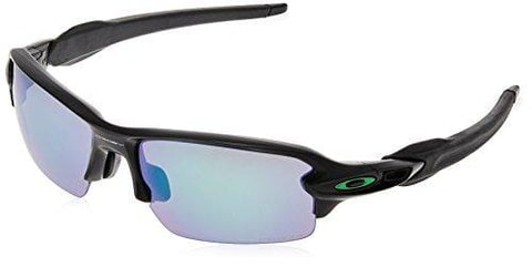 Oakley Men's Flak 2.0 (a) Polarized Iridium Rectangular Sunglasses, Matte Black, 61.0 mm