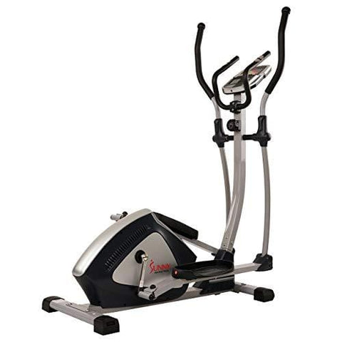 Sunny Health & Fitness Magnetic Elliptical Trainer Elliptical Machine w/  LCD Monitor and Heart Rate Monitoring - Endurance Zone - SF-E3804