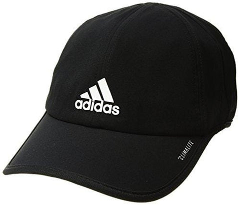 adidas Men's Superlite Relaxed Adjustable Performance Cap, Black/White, One Size [product _type] adidas - Ultra Pickleball - The Pickleball Paddle MegaStore