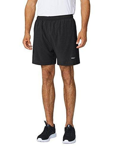 "Baleaf Men's Woven 5"" Running Shorts Black Size XL"