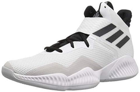adidas Men's Explosive Bounce 2018 Basketball Shoe, White/Black/Light Solid Grey, 12 M US