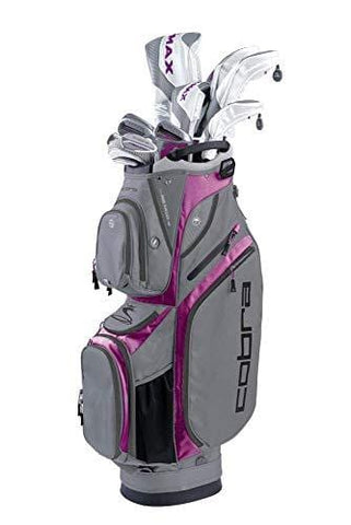 Cobra Golf 2019 F-Max Superlite Complete Set White-Purple Cactus Flower (Women's, Right Hand, Graphite, Ladies Flex, 15.0, 3W, 5W, 7W, 5H, 6-PW, SW, Putter, Bag)