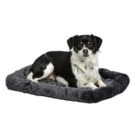 24L-Inch Gray Dog Bed or Cat Bed w/Comfortable Bolster | Ideal for Small Dog Breeds & Fits a 24-Inch Dog Crate | Easy Maintenance Machine Wash & Dry | 1-Year Warranty