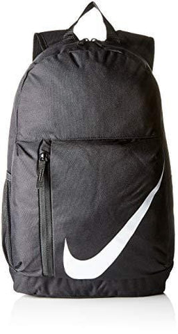 Nike Kids' Elemental Backpack, Kids' Backpack with Comfort and Secure Storage, Black/Black/White