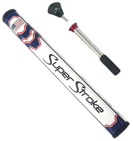 SuperStroke Mid Slim 2.0 Commemorative Country Putter Grip w/Countercore Blue