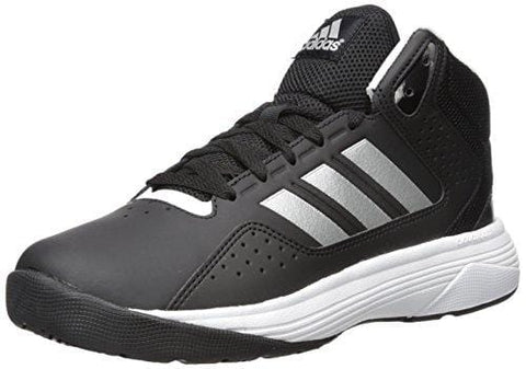 adidas Men's Cloudfoam Ilation Mid Basketball Shoes, Core Black/Matte Silver/White, ((9 W US)