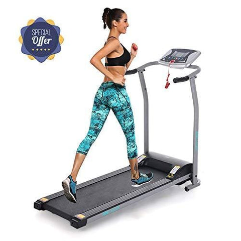 Folding Electric Treadmill Incline Motorized Running Machine Smartphone APP Control for Home Gym Exercise (Z 1.5 HP- Silver-Not with APP Control- Not Incline)
