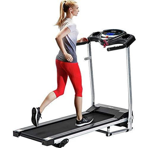 Merax Fitness Folding Treadmill - Electric Motorized Exercise Machine for Running & Walking [Easy Assembly] (Classic Black)