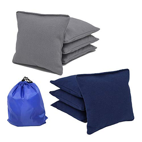 Free Donkey Sports Regulation Cornhole Bags. Corn-Filled. Includes Storage Bag. Choose Your Colors (Navy/Gray)