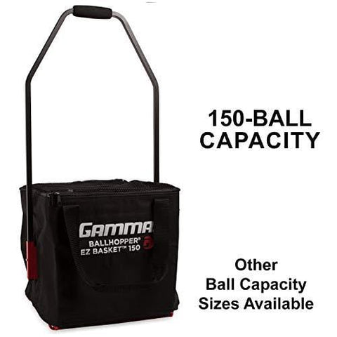 Gamma Ballhopper Premium EZ Tennis Travel Cart 150 & EZ Ball Basket – Portable & Compact Tennis Court Accessory, Sturdy & Lightweight Design, Foldable Cart, Holds 150 Balls, Carrying Case Included [product _type] Gamma Sports - Ultra Pickleball - The Pickleball Paddle MegaStore